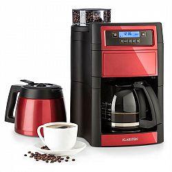 Klarstein Aromatica II Duo, kávovar, zabudovaný mlýnek, 1,25 l, červený