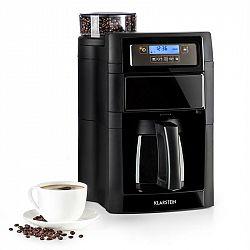 Klarstein Aromatica II Thermo, kávovar, integrovaný mlýnek, 1,25 l, černý