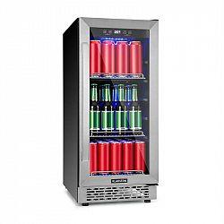 Klarstein Beerlager 88, chladnička na nápoje, 88 l, 33 lahví, energetická třída A, ušlechtilá ocel, černá
