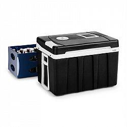Klarstein BeerPacker, termoelektrický chladící box s funkcí udržování tepla, 50 L, A+++, AC/DC, vozík, černý