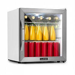 Klarstein Beersafe L Cystal Wite, chladnička A+, LED, 2 kovové rošty, skleněné dveře, bílá