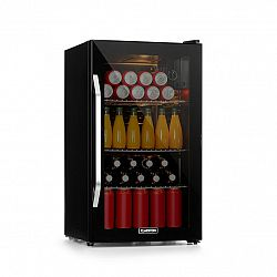 Klarstein Beersafe XXL Onyx, chladnička, A +, LED, 3 kovové rošty, skleněné dveře, onyx