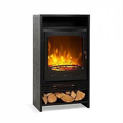 Klarstein Bergamo, elektrický krb, 900/1800 W, termostat, dřevěný design, černý