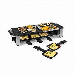 Klarstein Bistecca, raclette gril, 1200 W, kov/kámen, 8 osob, LED kontrolka