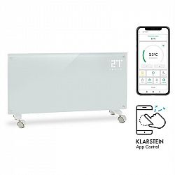 Klarstein Bornholm Smart, konvekční ohřívač, 2000 W, Wi-Fi, LED displej, časovač, IP24, bílý