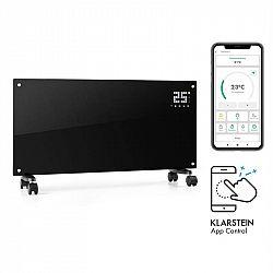 Klarstein Bornholm Smart, konvekční ohřívač, 2000 W, Wi-Fi, LED displej, časovač, IP24, černý
