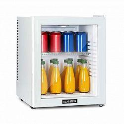Klarstein Brooklyn 32 White, mini chladnička, energetická třída A, skleněné dveře, LED, police, bílá