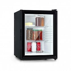 Klarstein Brooklyn 42, chladnička, energetická třída A, skleněné dveře, bílý interiér, černá