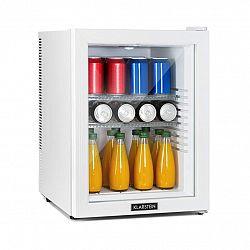 Klarstein Brooklyn 42 White, mini chladnička, energetická třída A, skleněné dveře, LED, police, bílá