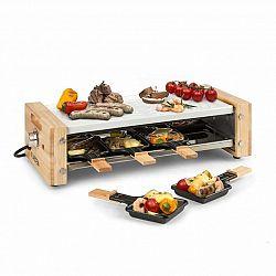 Klarstein Chateaubriand  Nuovo, raclette, 1200 W, hliník, 8 osob, dřevěný dekor