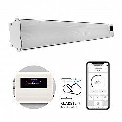 Klarstein Comic Beam Smart 30, infračervený ohřívač, 3000 W, ovládání přes aplikaci, bílý