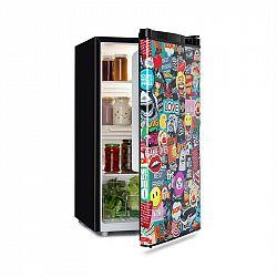 Klarstein Cool Vibe, lednice, A+, 90l, VividArt Concept, styl manga, černá