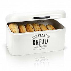 Klarstein Delaware, chlebník, kovový, 30 x 16 x 20,5 cm, výklopné víko, větrací otvory