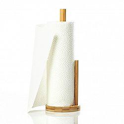Klarstein Držák na papírové utěrky, s vodítkem, držák na papírové utěrky, 15 x 35,5 cm, bambus