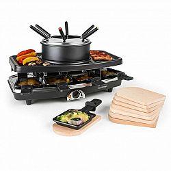 Klarstein Entrecote, 2 v 1 raclette gril a fondue, přírodní kámen, 1100 W, 8 osob, podložky