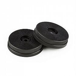 Klarstein Filtry s aktivním uhlím do digestoří, náhradní díl, 2 filtry, recirkulační režim, Ø 10,5 cm