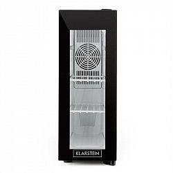 Klarstein Frosty, chladicí vinotéka, 13 l, 8–18 °C, skleněné dvířka, 35 dB, černá