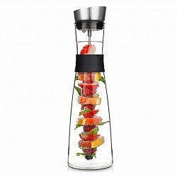 Klarstein Glaswerk Sile, karafa, 1,6 litru, borosilikátové sklo, ovocný špíz s koncovkou