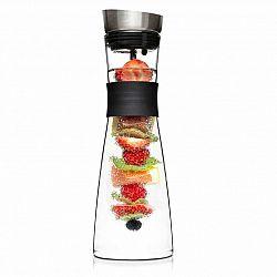 Klarstein Glaswerk Sile, karafa, 1 litr, borosilikátové sklo, ovocný špíz s koncovkou