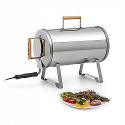 Klarstein Gourmet Barrel, udírna, nerezová ušlechtilá ocel, 0,6 mm, držadla ze dřeva, stříbrná