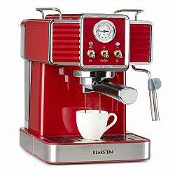 Klarstein Gusto Classico, espresso kávovar, 1350 W, tlak 20 bar, nádrž na vodu: 1,5 litru