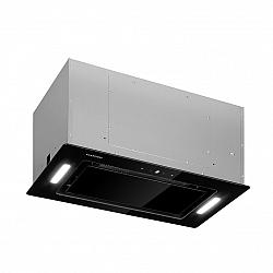 Klarstein Hektor Eco, vestavný odsavač par, 52 cm, 566 m³/h, dotykový, sklo, černý