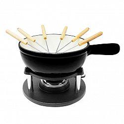 Klarstein Holsten, souprava na fondue, hrnec, ohřívač, hořák, 6 vidliček, 1,5 l, litina