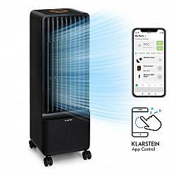 Klarstein Maxflow Smart, 3 v 1 ochlazovač vzduchu, ventilátor, zvlhčovač vzduchu, 5 l, Wi-Fi, dálkové ovládání, 2x chladicí souprava