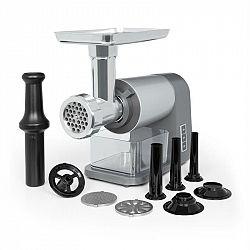 Klarstein Mett Max, elektrický mlýnek na maso, 600 W, měděný motor, mleté maso, klobásy, šedý