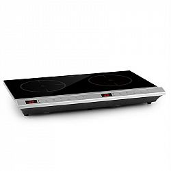 Klarstein MisterCook Duo, varná deska, infračervená, 3000 W, 90–650 °C, časovač vypnutí, stříbrná
