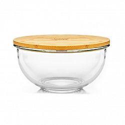 Klarstein Salátová mísa, 465 ml, bambusový víko, uzavíratelná, bez BPA, velikost XS