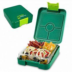 Klarstein schmatzfatz easy, svačinkový box, 4 přihrádky,  18 × 15 × 5 cm