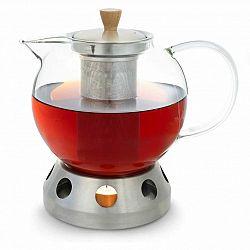 Klarstein Sencha, designová konvice na čaj, s ohřívačem Hibiscus z ušlechtilé oceli, 1,3 l, vkládací sítko