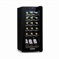 Klarstein Shiraz 18 Slim Uno, vinotéka, 50 l, 18 lahví, dotyková, 138 W, 5–18 °C, černá