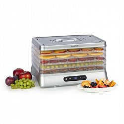 Klarstein Silver, sušička potravin, 500 W, LED displej, bez BPA, 35 - 70 ° C, stříbrná