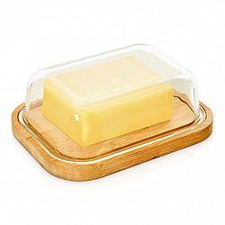 Klarstein Skleněná dóza na máslo, bambusové dno, vzduchotěsná, neovlivňuje chuť, vhodná do myčky nádobí