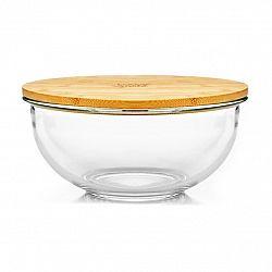 Klarstein Skleněná mísa, 1365 ml, bambusový víko, uzavíratelná, bez BPA, velikost M