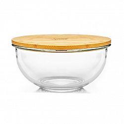 Klarstein Skleněná mísa, 865 ml, bambusový víko, uzavíratelná, bez BPA, velikost S