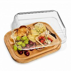 Klarstein Skleněný servírovací talíř, vzduchotěsný, neovlivňuje chuť, vhodný do myčky, vhodný do mrazáku
