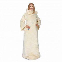 Klarstein Slanket, termodeka s rukávy, 120W, 155x180cm, korálové, fleece