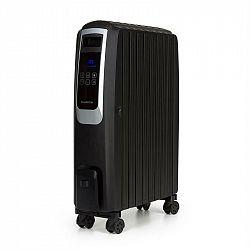 Klarstein Thermaxx Noir, olejový radiátor, 2500 W, 10 - 30 ° C, 24 hodin. časovač, dálkový ovladač, černý