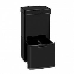 Klarstein TouchLess Black Stainless Steel, odpadkový koš, senzor, 72 l, černý