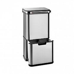 Klarstein Touchless Ultraclean, odpadkový koš se senzorem, 60 l, 3 nádoby, ušlechtilá ocel, stříbrný