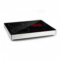 Klarstein TrinityCook Hybrid, kombinovaná varná deska, 3400 W, dotykové ovládání, sklo