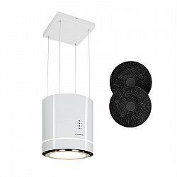 Klarstein Tron Ambience, ostrůvkový odsavač par, Ø 38 cm, recirkulace 540 m³/h, LED bílý