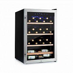 Klarstein Vinamour 48 Uno, vinotéka, 128 l, 48 lahví, 3 police, 4-18 °C, ušlechtilá ocel