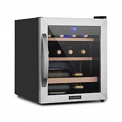 Klarstein Vinetage 12 Uno, lednička na víno, 12 lahví, 46 l, 4–18 °C, 40 dB, sklo