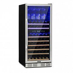 Klarstein Vinovilla 116D, velkokapacitní lednice na víno, 313l, 116 lahví, ušlechtilá ocel