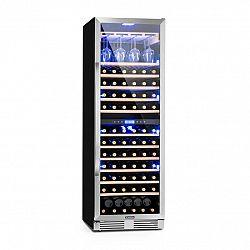 Klarstein Vinovilla Grande Duo, velkoobjemová vinotéka, chladnička, 425l, 165 fl., 3barevné LED osvětlení