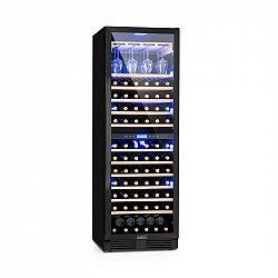 Klarstein Vinovilla Onyx Grande Duo, vinotéka, 425 l, 165 lahví, 3 barvy, černá